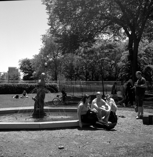 """Image titled """"Folks in the Park, Chicago."""""""