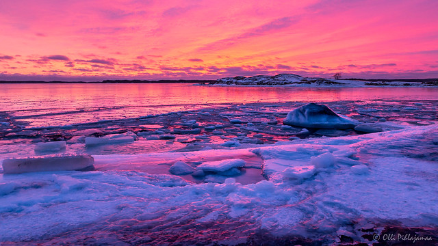 Magical colours after the winter sunset