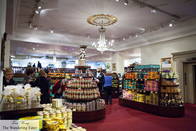 Inside the Confections department of Fortnum & Mason