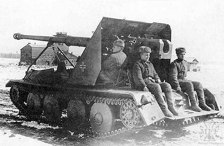 Ardel/Krupp Waffentrager captured by Soviets