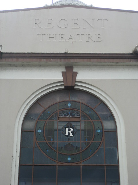 The Art Nouveau Stained Glass Window of the Former Regent Theatre - Murray Street, Colac