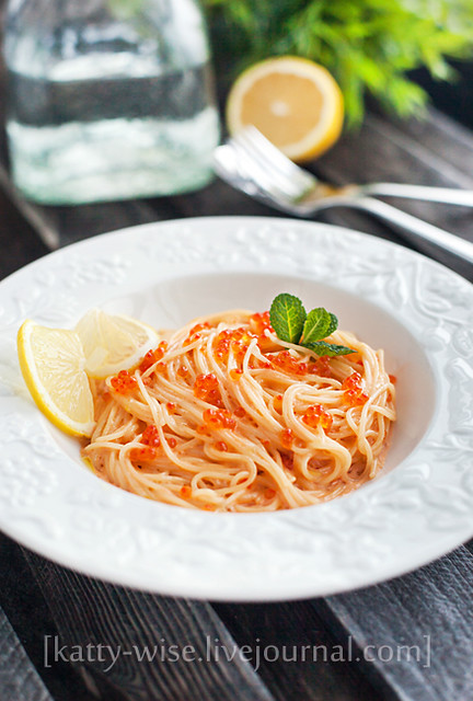 Pasta alla Vodka with red caviar