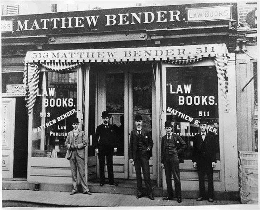 matthew Bender law books c 1900 511-513 Broadway albany ny