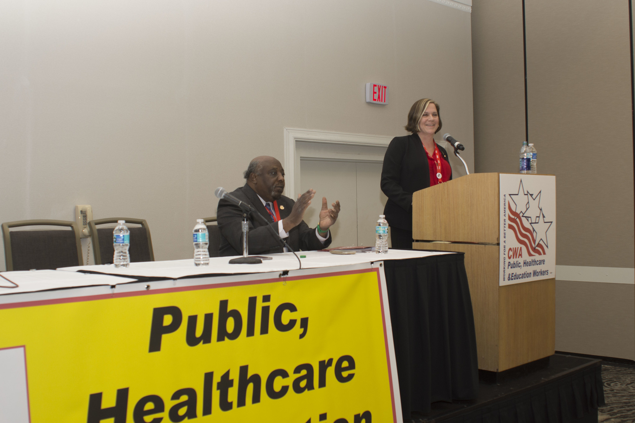 Sara Steffens at the 2017 Public, Healthcare, and Education Workers Conference