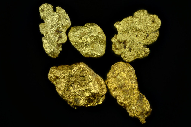 Placer gold