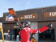 Snow lyžař 3032 m.n.m. :)