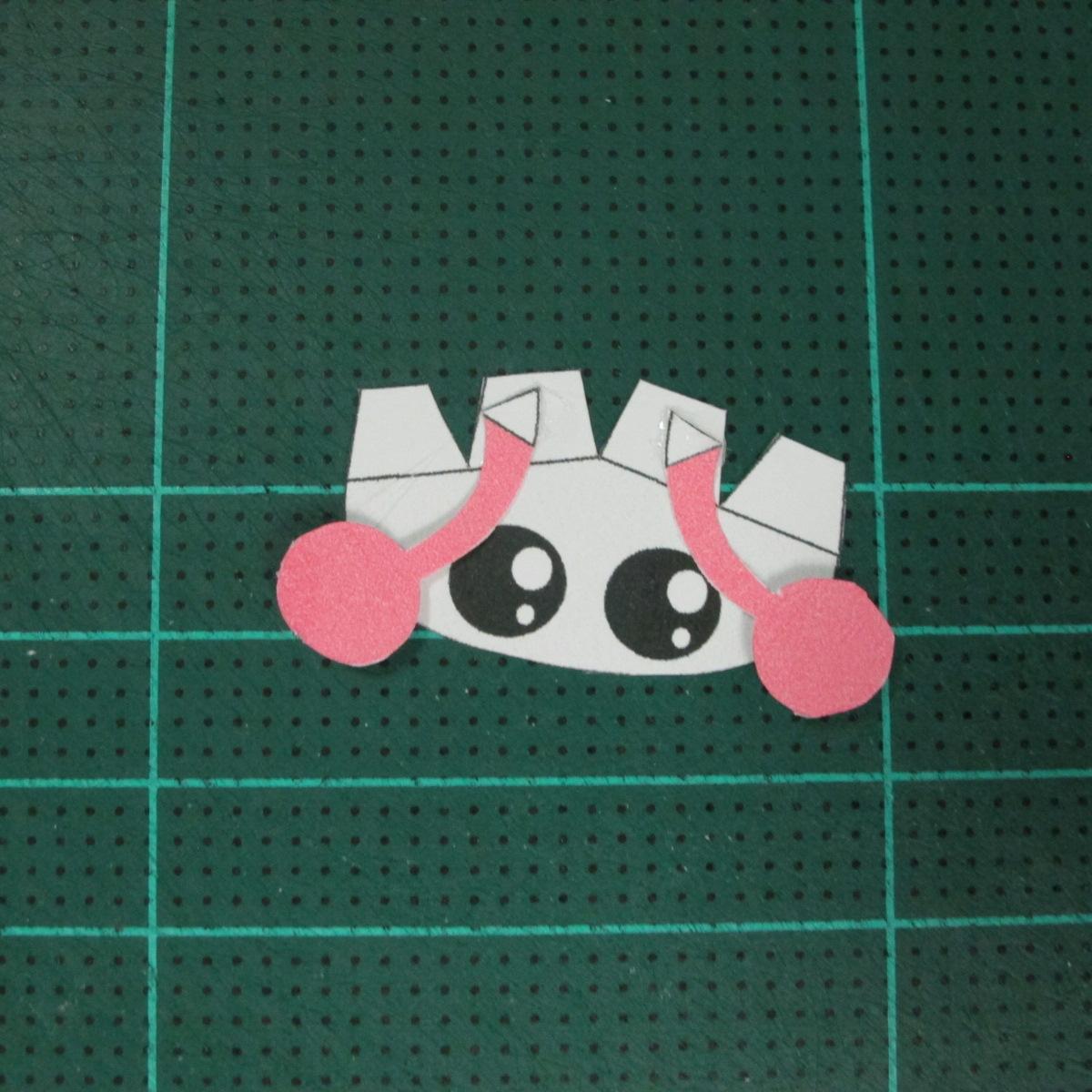 วิธีทำโมเดลกระดาษรูปเต่าทองแบบง่ายๆ (Easy Ladybug Papercraft Model) 004