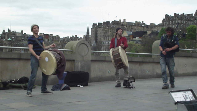 making music on the Mound
