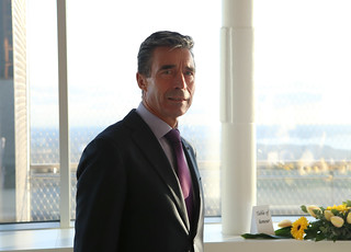 Foreign Minister Urmas Paet and NATO Secretary General Anders Fogh Rasmussen visited the Tallinn TV Tower on 8 May   by Estonian Foreign Ministry