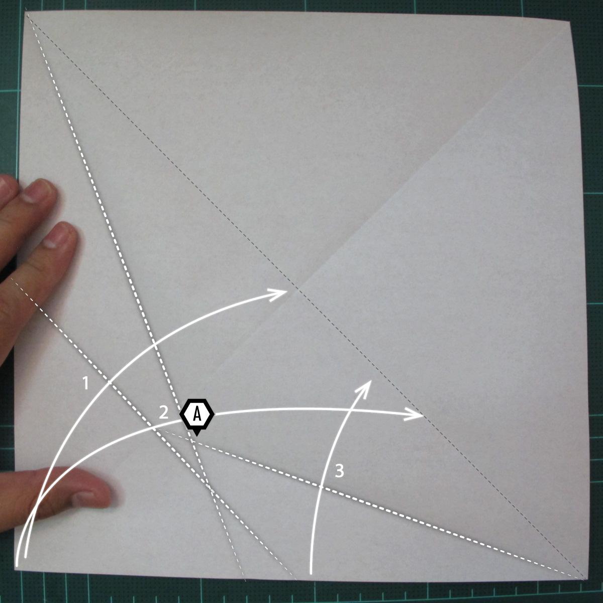 การพับกระดาษเป็นรูปสัตว์ประหลาดก็อตซิล่า (Origami Gozzila) 003