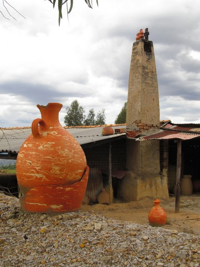 One of the pottery making ovens