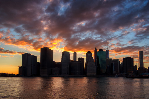 city sunset sky urban water colors skyline clouds digital downtown cityscape dusk manhattan naturallight eastriver 2014 nikonp330