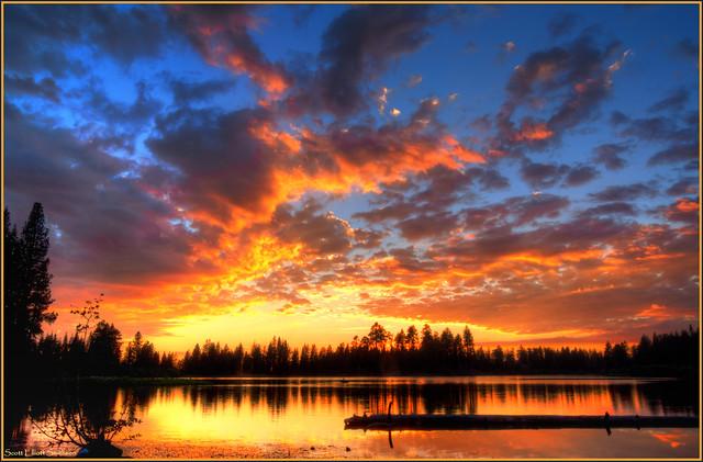 Manzanita Lake Sunset