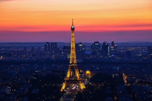 sunset over the eiffel tower | paris. | by alyssaBLACK.