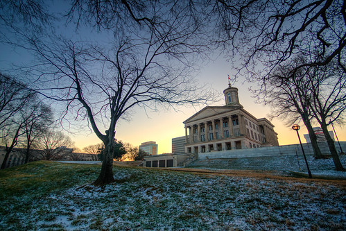 tennessee state capitol nashville architecture sunrise snow tennesseestatecapitol nashvilletennessee capitolbuilding