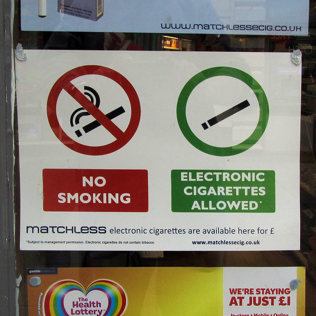 NO SMOKING - ELECTRONIC CIGARETTES ALLOWED