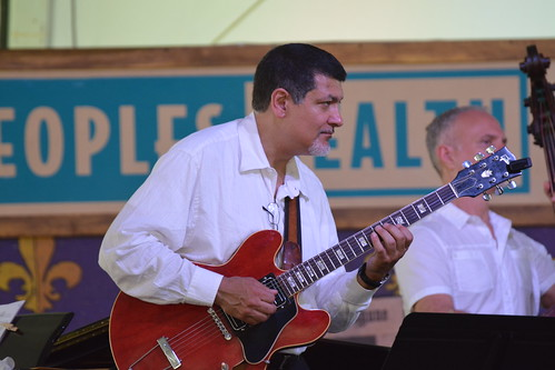 Don Vappie with Bob Wilber and the Crescent City Cats in Economy Hall Tent. Photo by Kichea S Burt.
