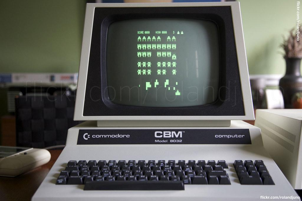 Commodore CBM PET 8032 running Space Invaders   RolandJuno   Flickr