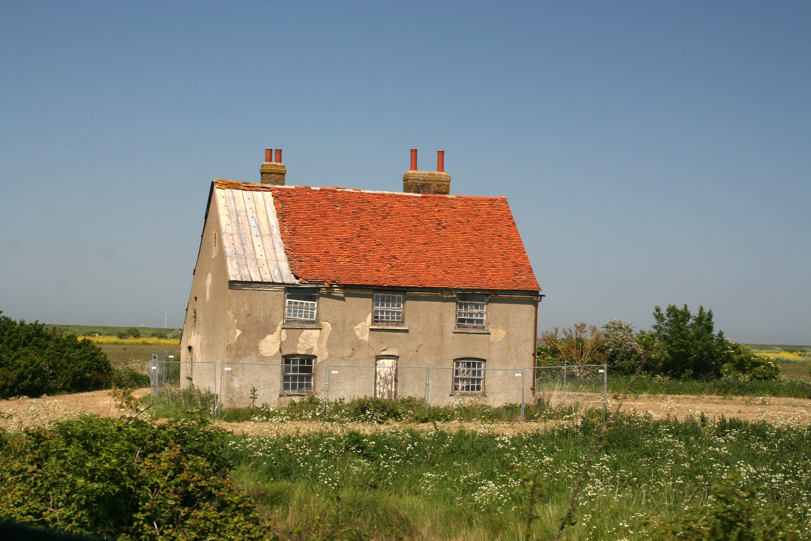 Oldest brick house on Foulness Island Although it has seen better day! The building is Grade II listed.