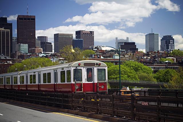 Red Line on Longfellow Bridge (MBTA)
