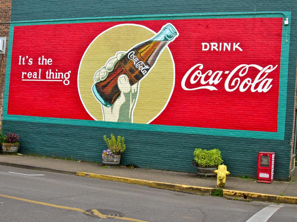 Coca-Cola Ad, Cottage Grove, OR   Old Coca-Cola advertisemen