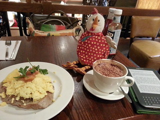 Jingle Chicken and breakfast at Heathrow | by quinn.anya