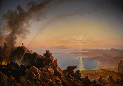 princeton newjersey unitedstates us franz ludwig catel the crater vesuvius with view bay naples 1841 art museum nj museo musée musee muzeum museu musum müze finearts fine arts gallery gallerie beauxarts beaux galleria new jersey painting