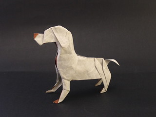 Dog designed and folded by me | by Damian Malicki Origami