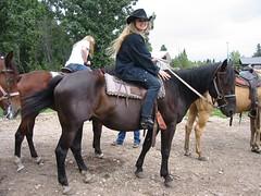O. on a Horse