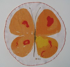 vera circle butterfly napkin