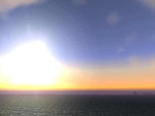 Sonnenuntergang im Großen Meer