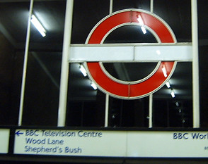 At White City tube on my way to the BBC