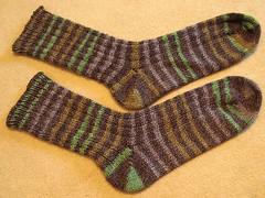 finished stripey socks