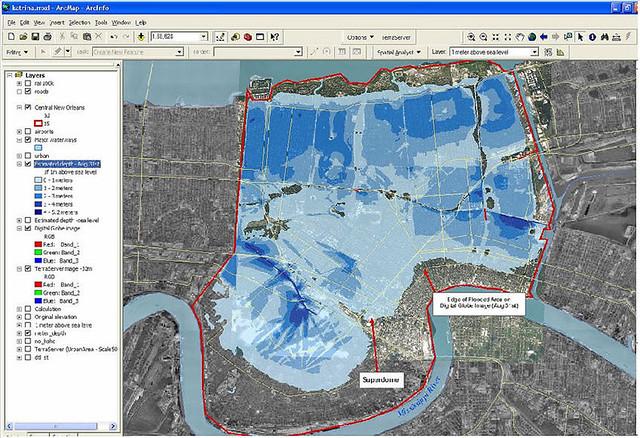 Katrina Flooding Map on patricia flooding map, sandy flooding map, ike flooding map, new orleans street flooding map, new orleans flood zone map, new orleans pre-katrina flood map, isaac flooding map,