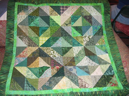 Green quilt with both borders | by Mellicious