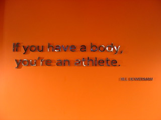 Bill Bowerman Quote @ Niketown | by yehwan