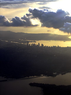 Seattle sunset and clouds from airplane | by mamamusings