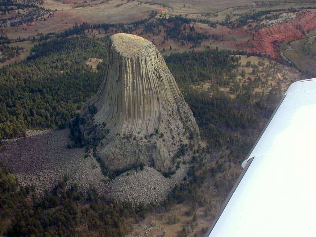 Devils Tower From The Air Flying Back From Picking Up My