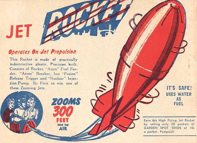 1950's Jet Rocket Toy Ad