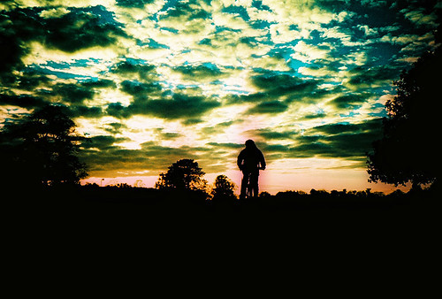 sunset sky film bicycle silhouette clouds lomo lca xpro lomography xprocess cyclist crossprocess analogue kodakelitechrome extracolor ebx