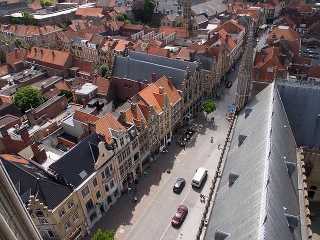 View on Ieper from Belfort tower (België 2014)