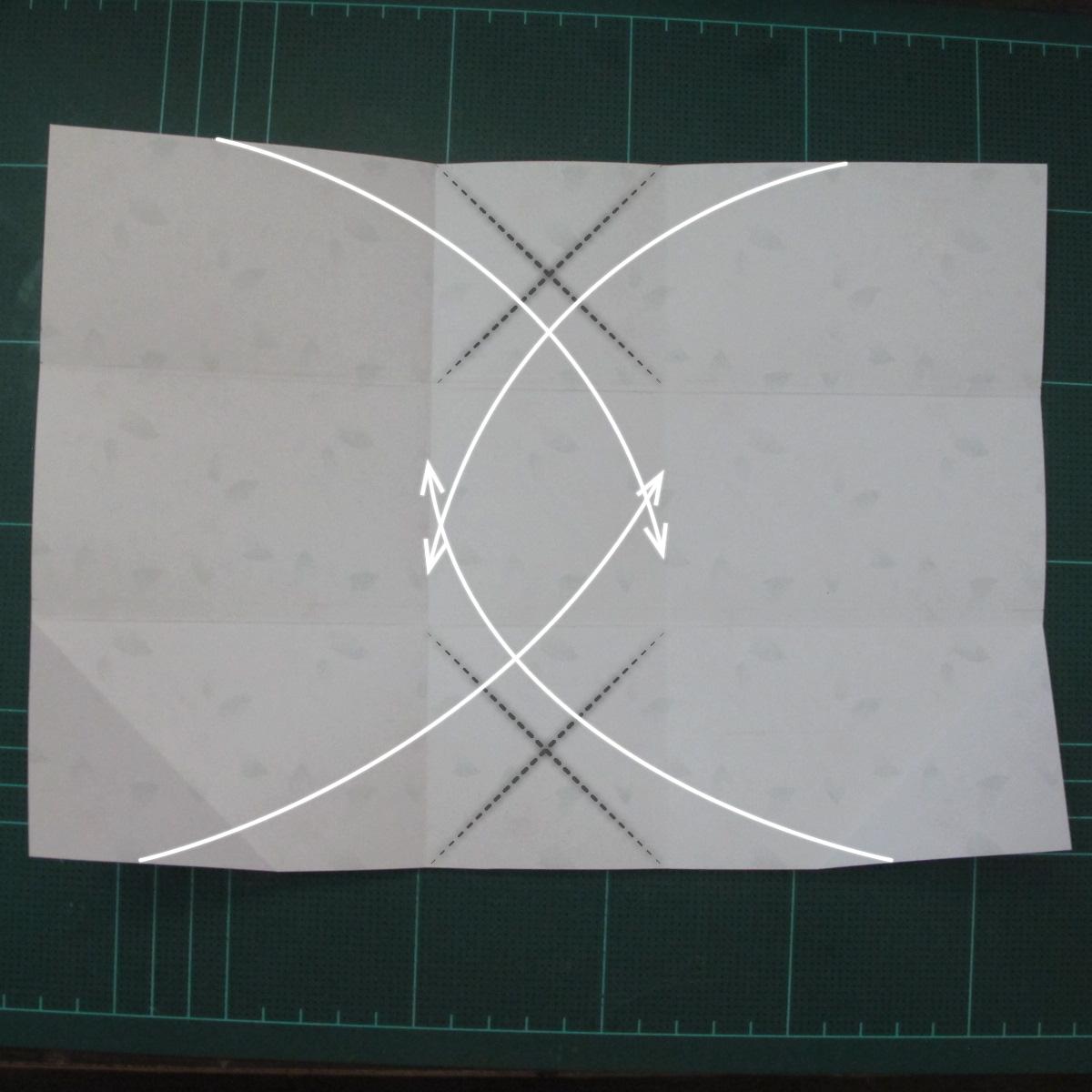 การพับกระดาษเป้นถุงของขวัญแบบไม่ใช้กาว (Origami Gift Bag) 004