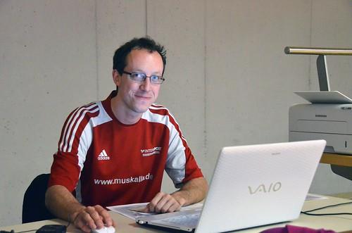 Organisator und Abteilungsleiter Daniel Zwicklbauer