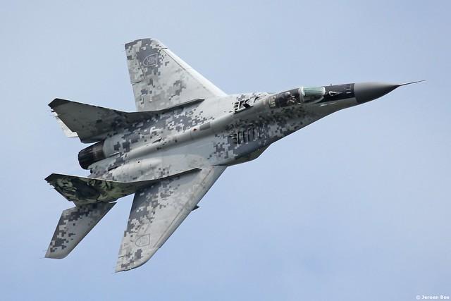 Slovak Air Force MiG-29AS '0921' demo at Gilze-Rijen Netherlands, 'Luchtmachtdagen 2014'