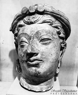 Bodhisattva head, National Museum, New Delhi   by Sreejith Vijayakumar