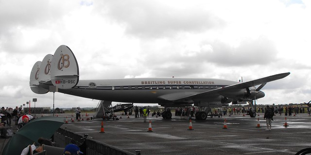 Breitling Lockheed Super Constellation - HB-RSC @ Duxford 2014