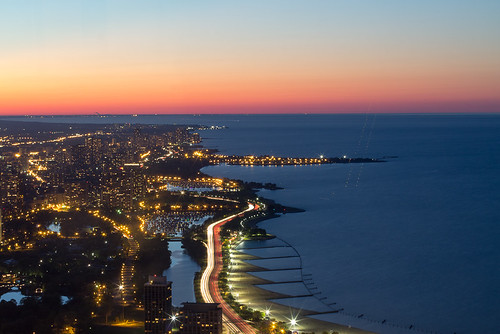 light sunset sun chicago luz lines azul 50mm illinois puesta bluelight canont3