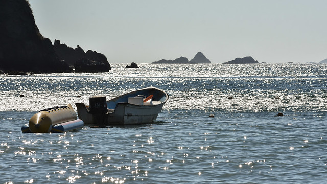 Cuastecomates glittering ocean landscape