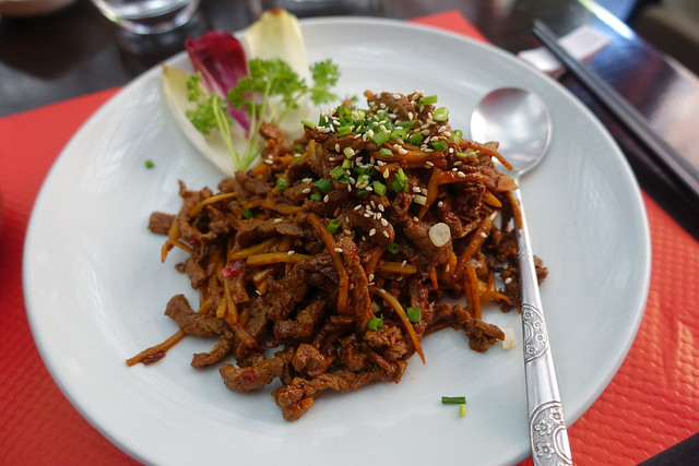 Sichuanese Spicy Dry-Fried Beef @ Jia Yan @ Paris