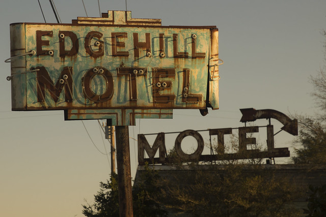You can check-out any time you like, but you can never leave. Edgehill Motel, Edghill Maryland